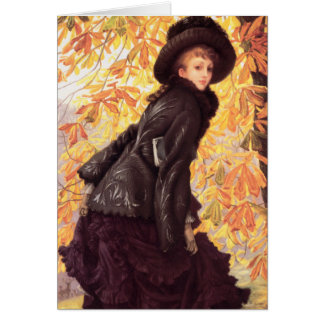 James Tissot October Greeting Card