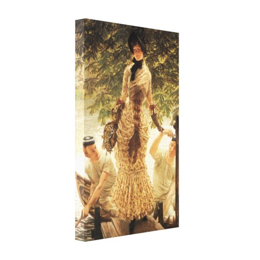 James Tissot On The Thames Canvas Print