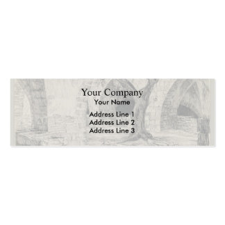 James Tissot:Out-building of the Armenian Convent Double-Sided Mini Business Cards (Pack Of 20)