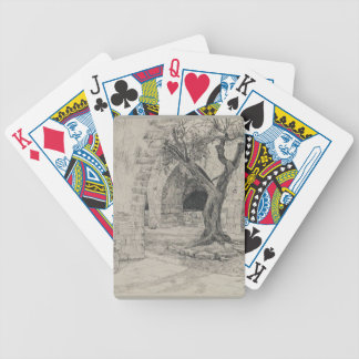James Tissot:Out-building of the Armenian Convent Poker Deck