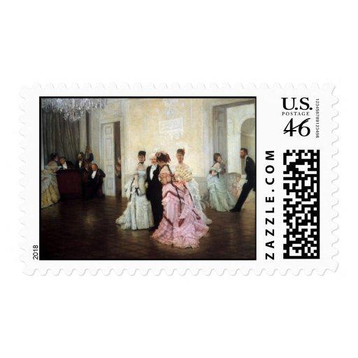 James Tissot Painting Postage Stamp