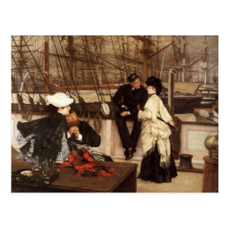 James Tissot Painting Postcard