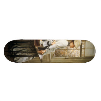 James Tissot Painting Skateboard Deck