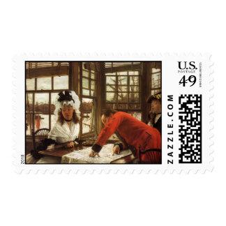 James Tissot Painting Stamp