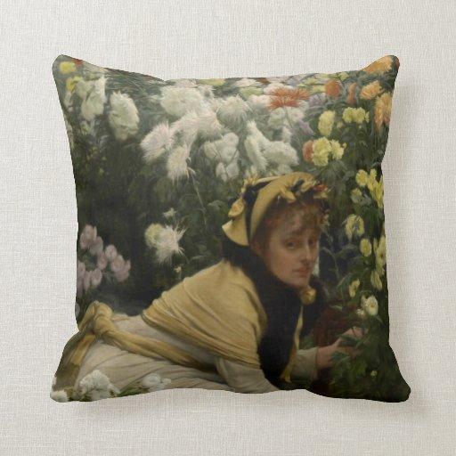 James Tissot Painting Throw Pillows
