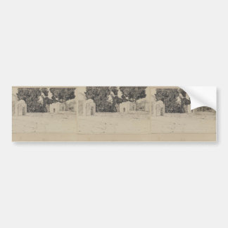 James Tissot: Rear of the Mosque of Omar Car Bumper Sticker
