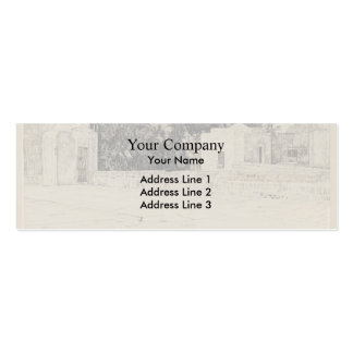 James Tissot: Rear of the Mosque of Omar Business Card Template