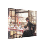 James Tissot - Room with a glance from the port Stretched Canvas Prints