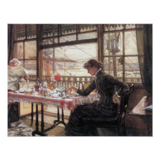 James Tissot - Room with a glance from the port Poster