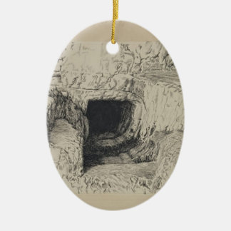 James Tissot- Round Stone Seen from the Exterior Christmas Ornaments