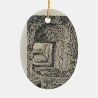 James Tissot- Round Stone Seen from the Interior Christmas Ornament