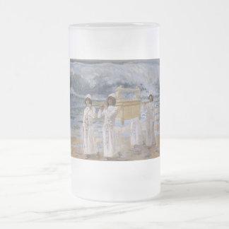 James Tissot - The Ark Passes Over the Jordan Frosted Glass Beer Mug
