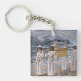James Tissot - The Ark Passes Over the Jordan Keychain