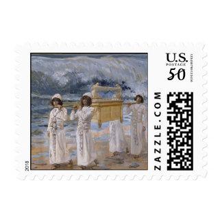 James Tissot - The Ark Passes Over the Jordan Postage