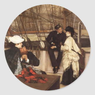 James Tissot- The Captain and the Mate Classic Round Sticker