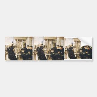 James Tissot- The Captain's Daughter Car Bumper Sticker