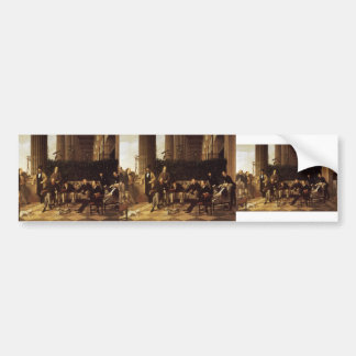 James Tissot- The Circle of the Rue Royale Car Bumper Sticker