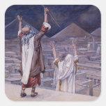 James Tissot: The Plague of Locusts Square Sticker