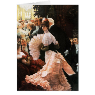 James Tissot The Political Lady Greeting Card