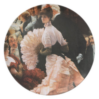 James Tissot The Political Lady Plate