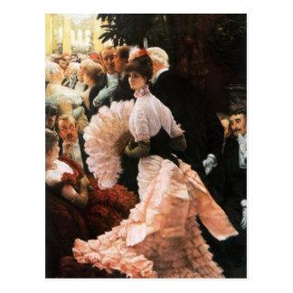 James Tissot The Political Lady postcard