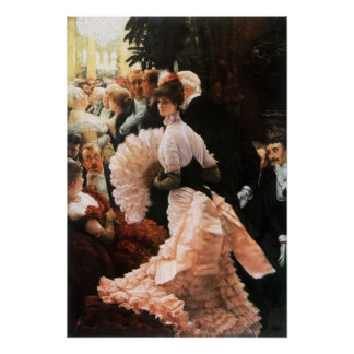James Tissot The Political Lady Poster