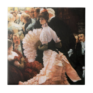 James Tissot The Political Lady Tile