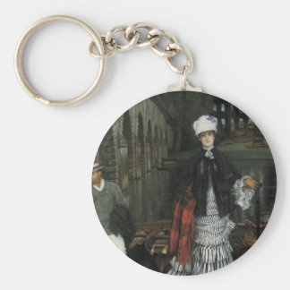 James Tissot- The Return from the Boating Trip Keychains