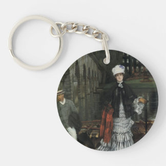 James Tissot- The Return from the Boating Trip Acrylic Keychain