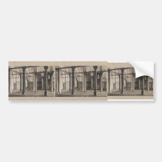 James Tissot- Transept of the Mosque of El Aksa Car Bumper Sticker