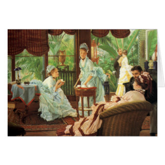 James Tissot Victorian Tea Party Greeting Card
