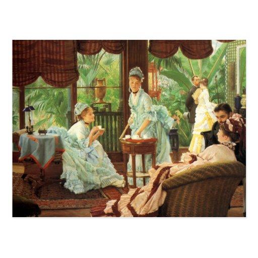 James Tissot Victorian Tea Party Note Card Postcard