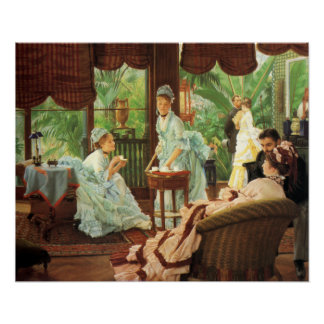 James Tissot Victorian Tea Party Poster