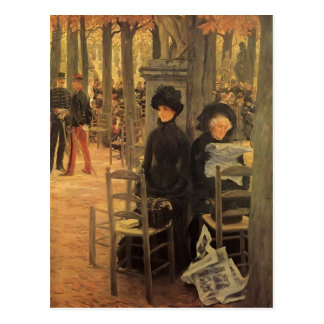 James Tissot- Without A Dowry,Luxembourg Gardens Postcard