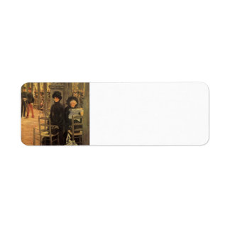 James Tissot- Without A Dowry,Luxembourg Gardens Return Address Label