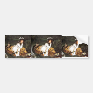 James Tissot- Young Lady In A Boat Car Bumper Sticker