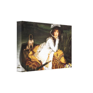 James Tissot Young Lady in a Boat Canvas Print