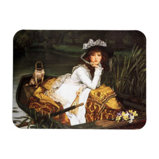 James Tissot Young Lady in a Boat Magnet