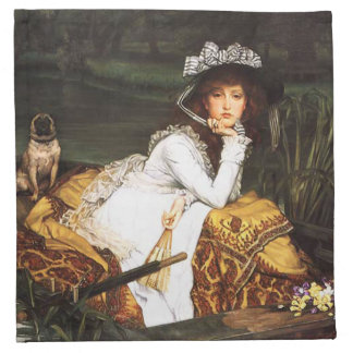 James Tissot Young Lady in a Boat Napkins