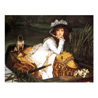 James Tissot Young Lady in a Boat Postcard