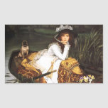 James Tissot Young Lady in a Boat Stickers