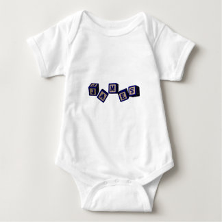James toy blocks in blue. Great gift for loved one Baby Bodysuit