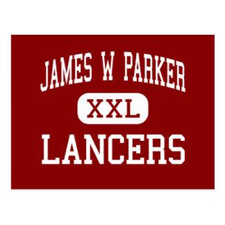 James W Parker - Lancers - Middle - Edinboro Postcard