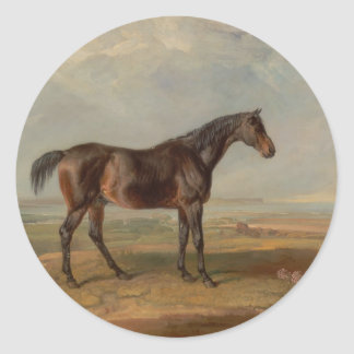 James Ward - Dr. Syntax, a Bay Racehorse Classic Round Sticker