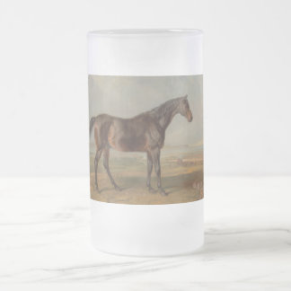 James Ward - Dr. Syntax, a Bay Racehorse Frosted Glass Beer Mug