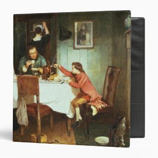 James Watt joven que juega con vapor