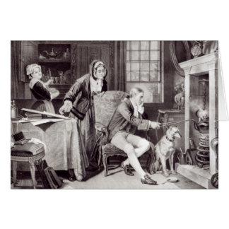James Watt que juega con vapor Tarjeta De Felicitación