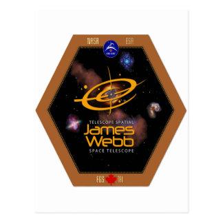 James Webb Space Telescope CSA Patch Postcard