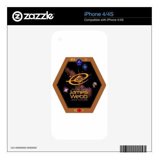 James Webb Space Telescope CSA Patch iPhone 4S Skin