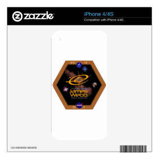 James Webb Space Telescope NASA Patch iPhone 4S Decals